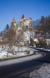 Δρόμος στο κάστρο πίτουρου, σύμβολο Dracula στοκ εικόνα με δικαίωμα ελεύθερης χρήσης