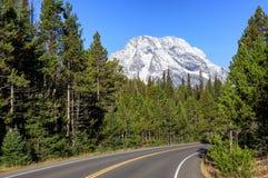 Δρόμος στο μεγάλο εθνικό πάρκο Teton Στοκ φωτογραφίες με δικαίωμα ελεύθερης χρήσης