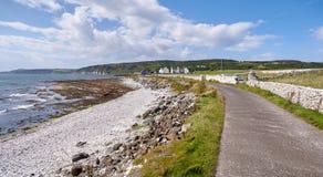Δρόμος στο νησί Rathlin, Antrim, Βόρεια Ιρλανδία Στοκ Εικόνες