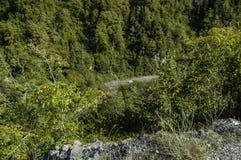 Δρόμος στο φαράγγι Στοκ εικόνα με δικαίωμα ελεύθερης χρήσης