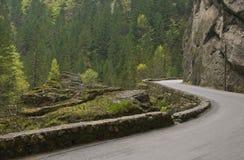 Δρόμος στο φαράγγι Bicaz στοκ φωτογραφία