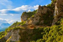 Δρόμος στο φαράγγι Piva - Μαυροβούνιο Στοκ Εικόνες