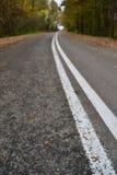 Δρόμος στο φθινόπωρο Στοκ Εικόνες