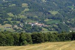 Δρόμος στο della Cisa Passo, από την Τοσκάνη στην Αιμιλία στοκ εικόνα