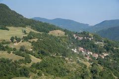 Δρόμος στο della Cisa Passo, από την Τοσκάνη στην Αιμιλία στοκ φωτογραφίες