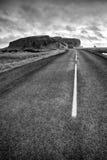 Δρόμος στο dyrholaey στην Ισλανδία Στοκ φωτογραφία με δικαίωμα ελεύθερης χρήσης