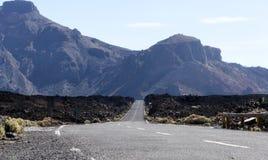 Δρόμος στο vulcano teide EL Στοκ Εικόνες