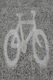 Δρόμος συμβόλων παρόδων κύκλων στο σχέδιο ποδηλάτων στοκ φωτογραφίες