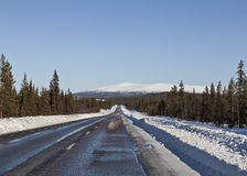 Δρόμος τα βουνά Στοκ φωτογραφίες με δικαίωμα ελεύθερης χρήσης
