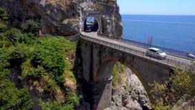 Δρόμος της ακτής της Αμάλφης, Ιταλία απόθεμα βίντεο