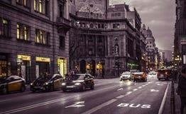 Δρόμος της Βαρκελώνης Στοκ Εικόνες