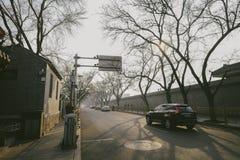 Δρόμος της Κίνας κατά τη διάρκεια του χειμώνα Στοκ φωτογραφία με δικαίωμα ελεύθερης χρήσης