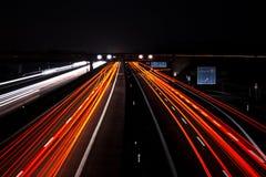 Δρόμος τη νύχτα Στοκ φωτογραφίες με δικαίωμα ελεύθερης χρήσης