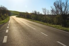δρόμος Τοσκάνη Στοκ Εικόνες