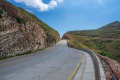 Δρόμος του Ομάν που οδηγεί στην Υεμένη στοκ φωτογραφία