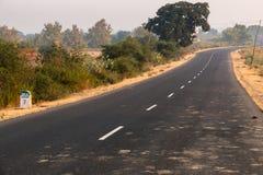 Δρόμος του madhya pradesh Στοκ φωτογραφία με δικαίωμα ελεύθερης χρήσης