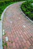 Δρόμος τούβλου γωνιών Στοκ εικόνες με δικαίωμα ελεύθερης χρήσης