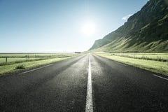 Δρόμος το καλοκαίρι Ισλανδία Στοκ Εικόνα