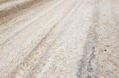 Δρόμος το χειμώνα στοκ εικόνες με δικαίωμα ελεύθερης χρήσης