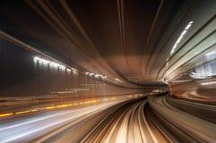 Δρόμος τραίνων θαμπάδων κινήσεων Στοκ φωτογραφίες με δικαίωμα ελεύθερης χρήσης