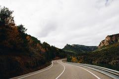 Δρόμος φθινοπώρου στη Γερμανία στοκ εικόνες