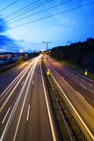 Δρόμος, φως και ουρανός Στοκ εικόνα με δικαίωμα ελεύθερης χρήσης