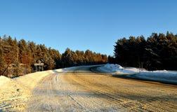 Δρόμος Χειμώνας Στοκ Εικόνες
