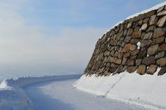 δρόμος χιονώδης Στοκ Εικόνα