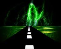 Δρόμος 4 φωτισμού απεικόνιση αποθεμάτων