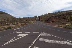 Δρόμος EL Teide Στοκ φωτογραφίες με δικαίωμα ελεύθερης χρήσης