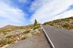 Δρόμος EL Teide Στοκ Εικόνες