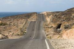 Δρόμος Fuerteventura, Ισπανία Στοκ Φωτογραφία