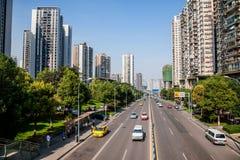 Δρόμος Haier, περιοχή Jiangbei, δήμος Chongqing Στοκ Εικόνα