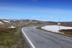 Δρόμος Hardangervidda Στοκ Εικόνες