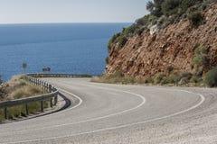 Δρόμος kas-Patara Antalya μεταξύ Στοκ φωτογραφία με δικαίωμα ελεύθερης χρήσης