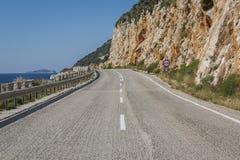 Δρόμος kas-Patara Antalya μεταξύ Στοκ Φωτογραφία