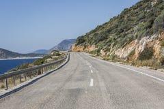 Δρόμος kas-Patara Antalya μεταξύ Στοκ Εικόνες