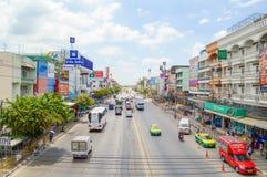 Δρόμος Ladkrabang σε Huatakea, Μπανγκόκ, Ταϊλάνδη Στοκ Εικόνες