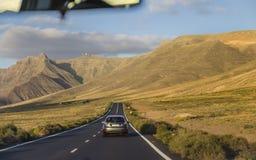 Δρόμος Lanzarote στοκ εικόνες
