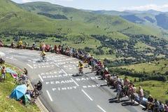 Δρόμος LE Tour de Γαλλία στοκ φωτογραφία με δικαίωμα ελεύθερης χρήσης
