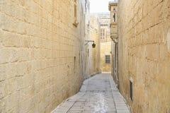 Δρόμος Mdina στοκ εικόνες με δικαίωμα ελεύθερης χρήσης