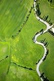 Δρόμος Montichiello Σιένα στοκ εικόνα