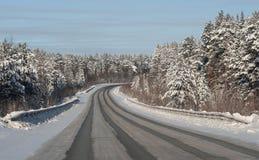 Δρόμος Wnter Στοκ φωτογραφίες με δικαίωμα ελεύθερης χρήσης