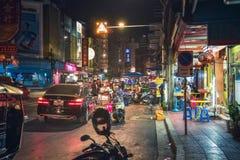 Δρόμος Yaowarat, Μπανγκόκ, Ταϊλάνδη Στοκ Φωτογραφία