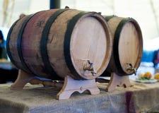 Δρύινα βαρέλια κρασιού Στοκ εικόνες με δικαίωμα ελεύθερης χρήσης