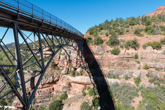 Δρύινη γέφυρα κολπίσκου στοκ φωτογραφία