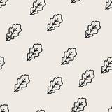Δρύινο απλό άνευ ραφής σχέδιο φύλλων Στοκ εικόνες με δικαίωμα ελεύθερης χρήσης