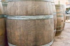 Δρύινο ξύλινο βαρέλι Στοκ Εικόνες