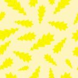 Δρύινο σχέδιο φύλλων φθινοπώρου Στοκ εικόνα με δικαίωμα ελεύθερης χρήσης