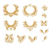 δρύινο σύνολο στοιχείων &sig Στοκ φωτογραφία με δικαίωμα ελεύθερης χρήσης